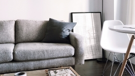 grey and white scandi living room