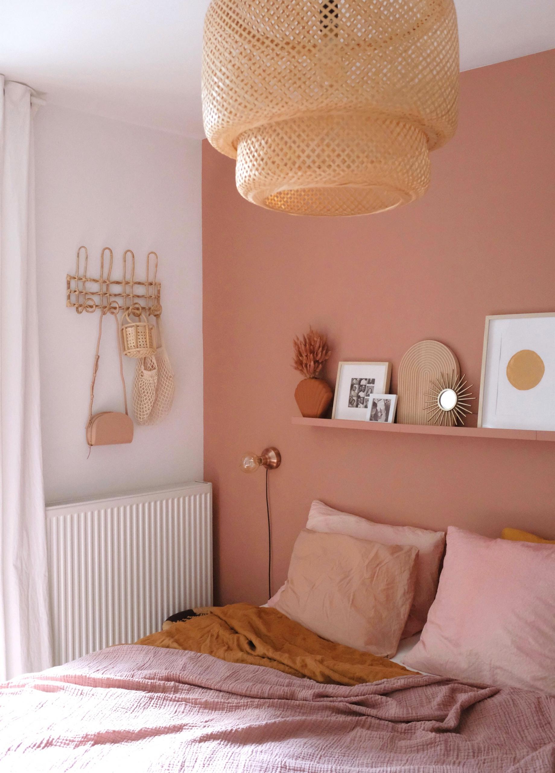 Terracotta pink bedroom