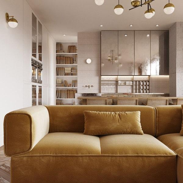 Gold Modern Sofa